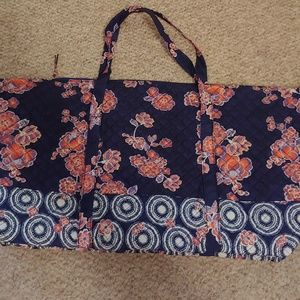 Large quilted overnight tote